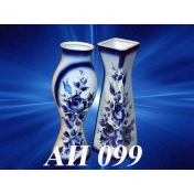 обложка MEDIUM VASE GZHEL  (in assortment)  (AI-099)   41см от интернет-магазина Книгамир